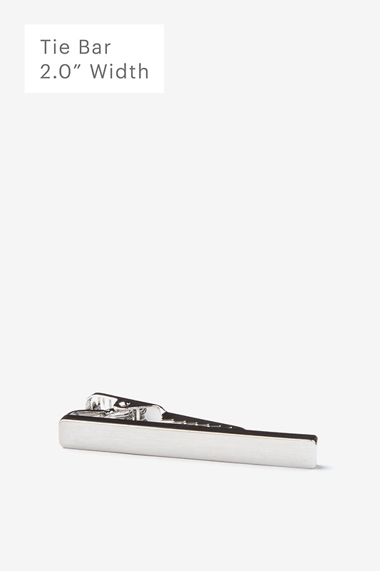 Flat Brushed Silver Tie Bar Photo (0)