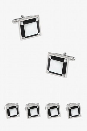 Framed Cufflink & Stud Set