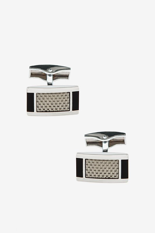 Framed Illusions Silver Cufflinks Photo (0)