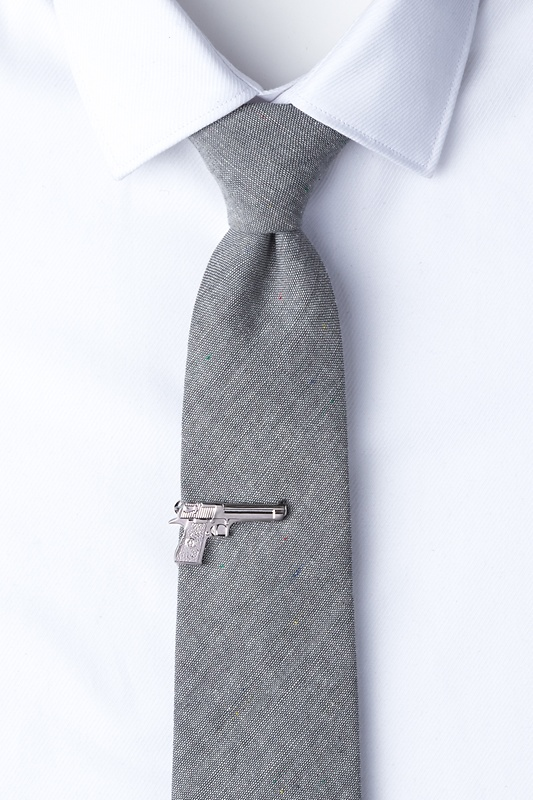 Handgun Silver Tie Bar Photo (1)