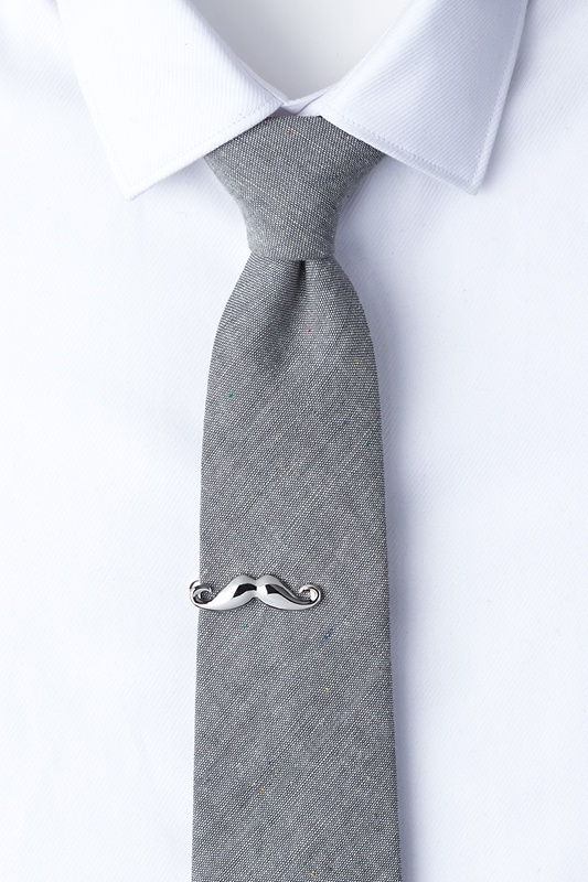 Handlebar Mustache Silver Tie Bar Photo (1)