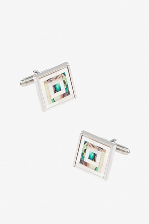 _Inlaid Mother of Pearl Cufflinks_