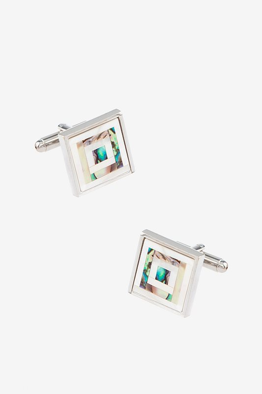 Inlaid Mother of Pearl Cufflinks Photo (0)