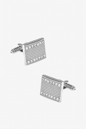 Jazzy Engraved Rectangle Cufflinks