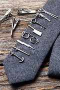 Lighting Bolt Silver Tie Bar Photo (1)