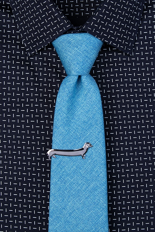 Long Weiner Dog Tie Bar