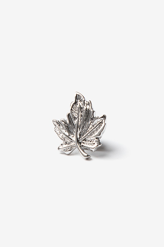 Maple Leaf Silver Lapel Pin Photo (0)