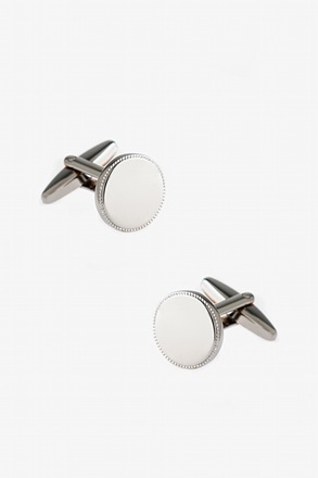Mirrored Round Plate Cufflinks