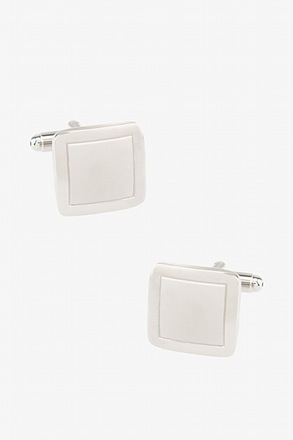 _Monochrome Square Frame Cufflinks_