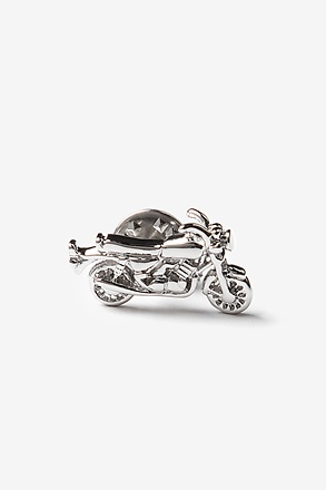 _Motorcycle Silver Lapel Pin_