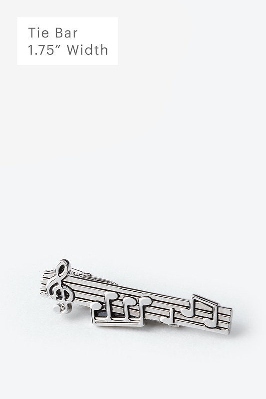 Music Notes Tie Bar Photo (0)