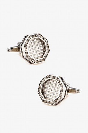Octagonal Jewel Cufflinks