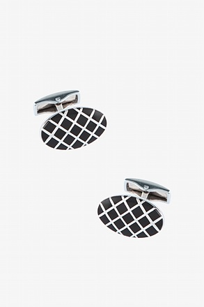 Oval Argyle Cufflinks