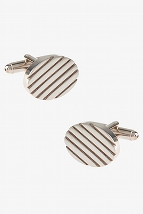 Oval Grooves Cufflinks