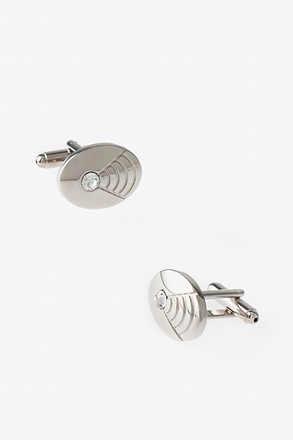 Oval Shell Gem Cufflinks