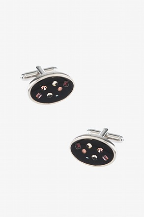 Oval Starry Night Cufflinks