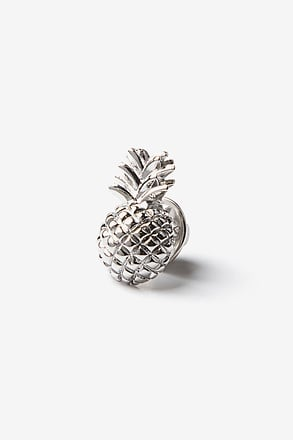 _Pineapple Silver Lapel Pin_