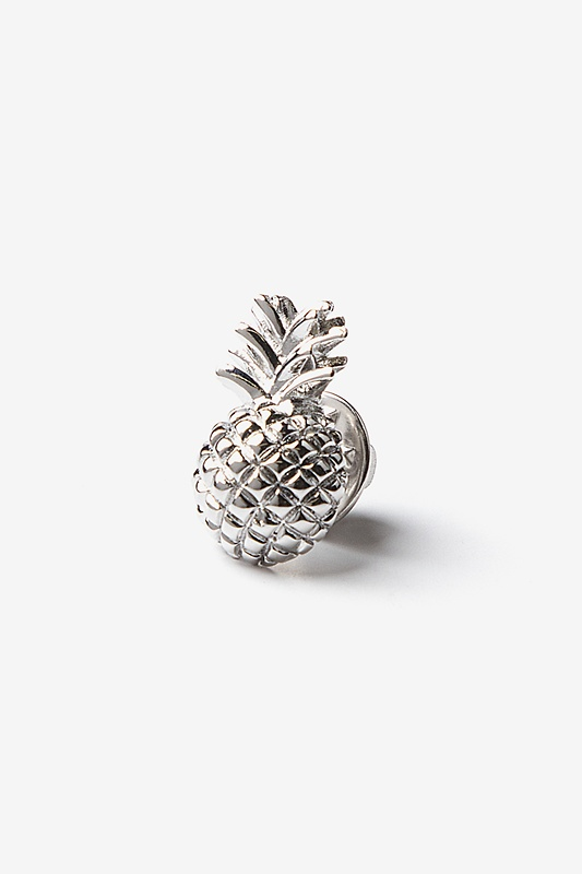 Pineapple Silver Lapel Pin Photo (0)