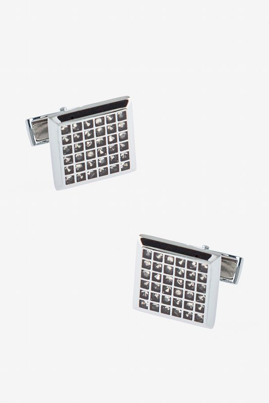 Rhinestones Columns Cufflinks Photo (0)