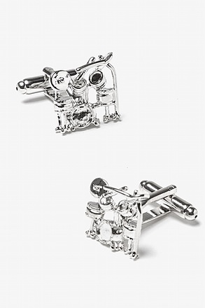 _Rock Band Silver Cufflinks_