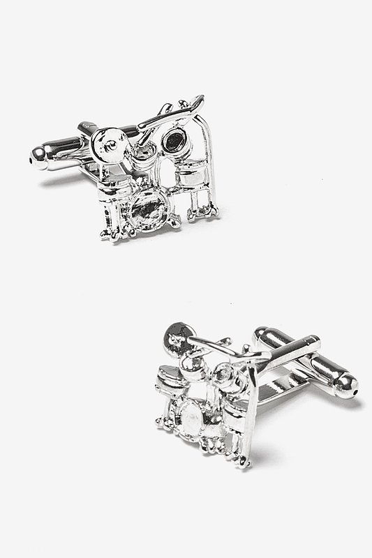 Rock Band Silver Cufflinks