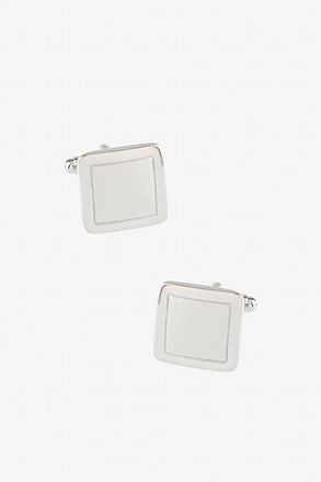 Rounded Square Frame Cufflinks
