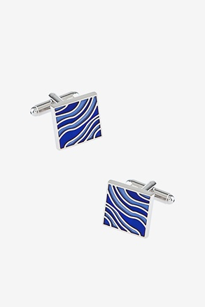 Running Water Square Cufflinks