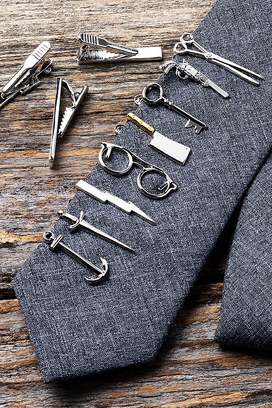 Scissors Silver Tie Bar