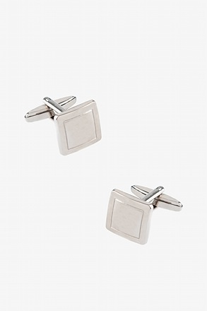 Simple Square Brushed Cufflinks