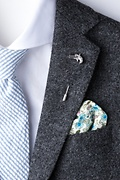 Single Shot Silver Lapel Pin