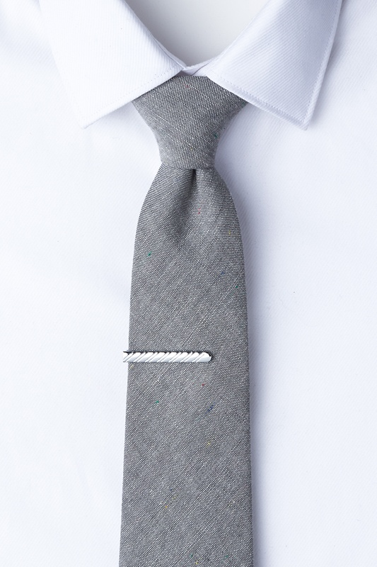 Slate Silver Tie Bar Photo (2)