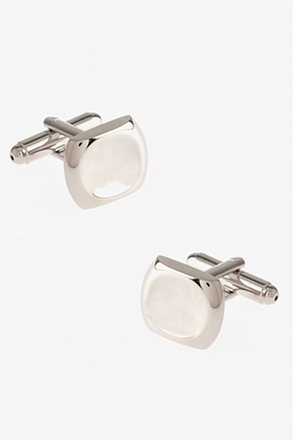 Solid Dented Square Cufflinks