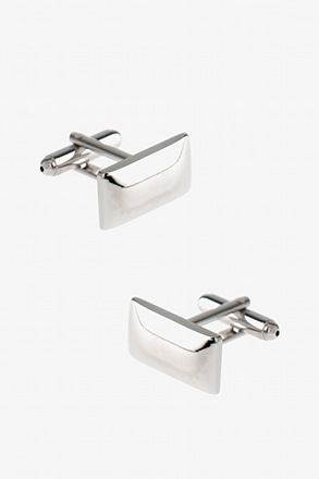 _Solid Rounded Rectangle Cufflinks_