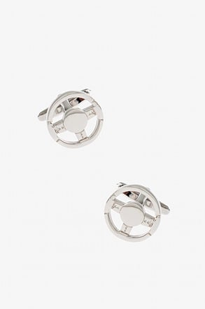 Solid Steering Wheel Cufflinks