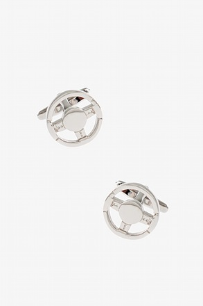 _Solid Steering Wheel Cufflinks_