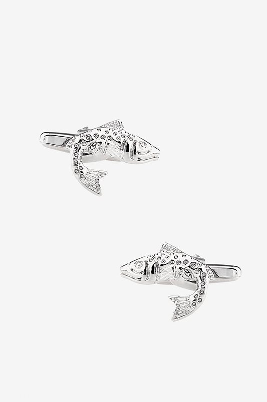 Spotted Trout Silver Cufflinks Photo (0)