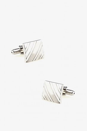 Square At An Angle Cufflinks