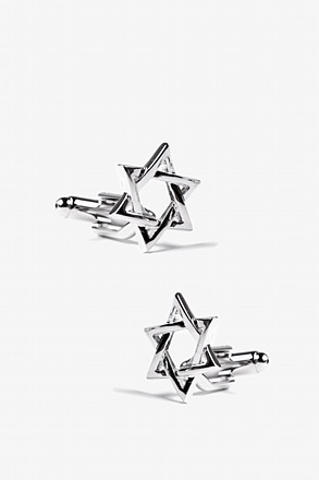 Star of David Silver Cufflinks