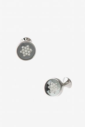 Starry Round Peak Cufflinks