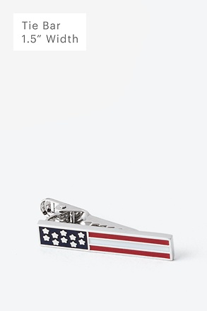 Stars & Bars Silver Tie Bar