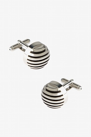 Striped Dome Cufflinks