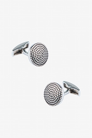 _Textured Dome Cufflinks_