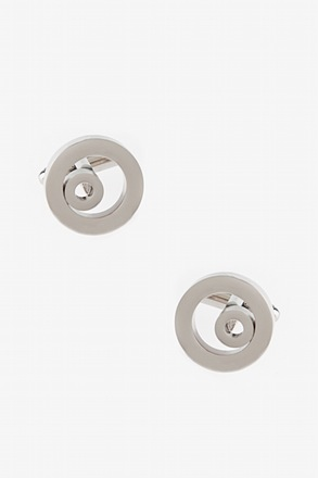 _Thick Round Circles Cufflinks_