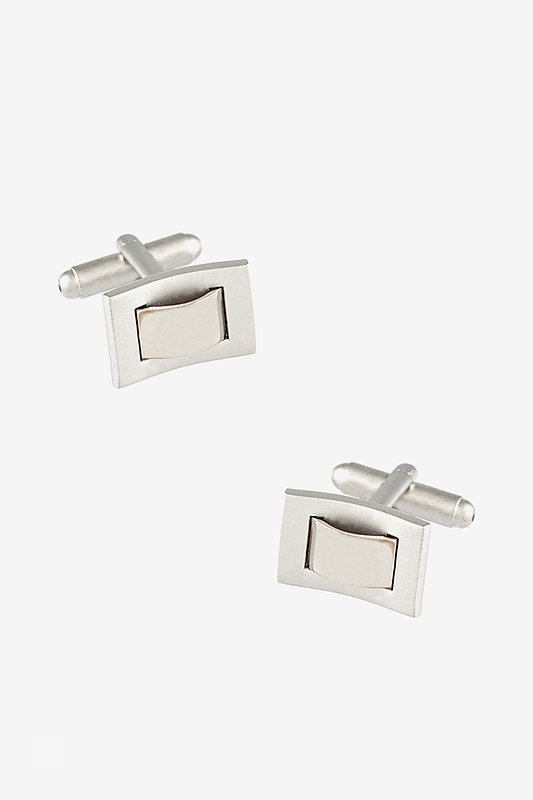 Through the Loop Rectangular Cufflinks Photo (0)
