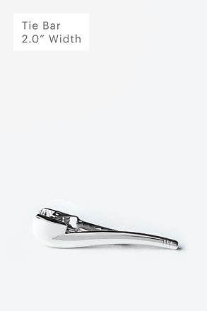 Tobacco Pipe Silver Tie Bar