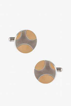 Two Toned Coin Cufflinks