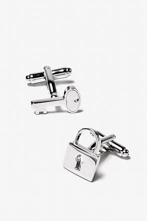 Under Lock and Key Silver Cufflinks