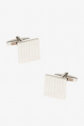 Vertical Faceted Square Cufflinks