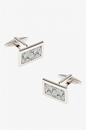 _Woven Rectangle Cufflinks_