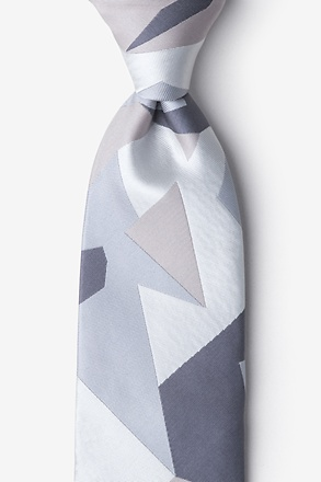 _Geometric Camo Extra Long Tie_